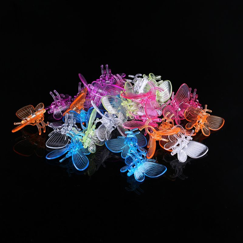 30 Pcs Butterfly Orchid Clips Plant Clips Garden Flower Vine Support Clips Cute GXMA
