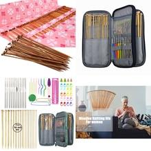 цена Bamboo Knitting Needles Crochet Hooks For Beginner Sweater Crochet Needles Set Sewing Accessories DIY Yarn Weave Knitting Kit онлайн в 2017 году