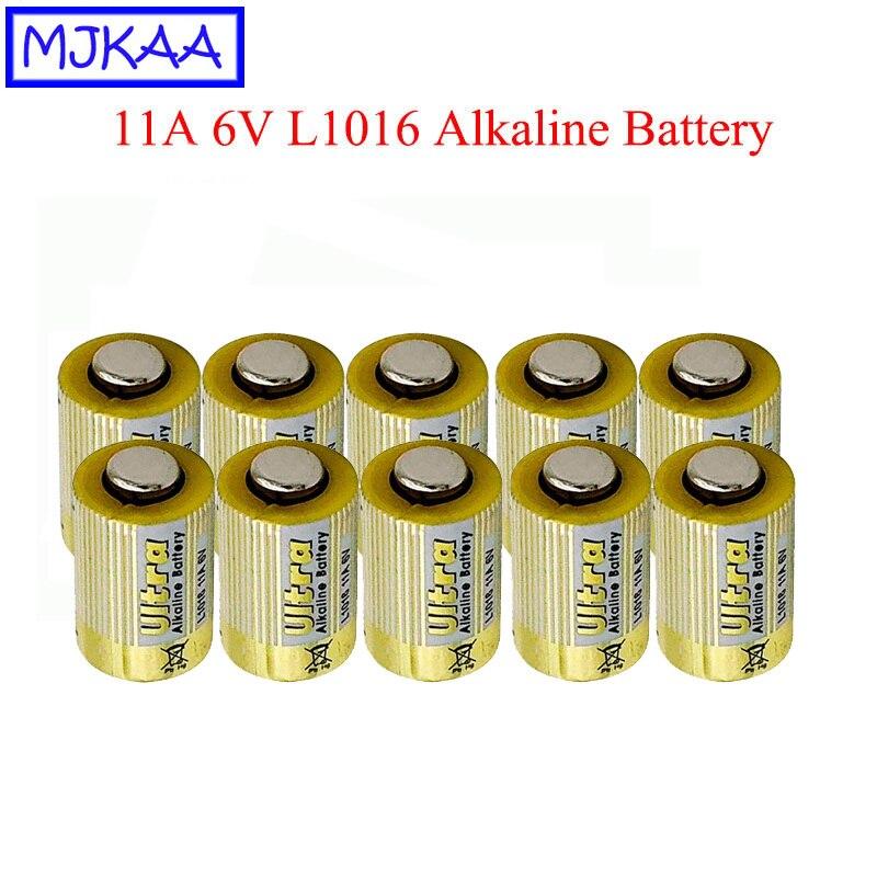 MJKAA 10 個 11A 6V L1016 一次乾電池アルカリ電池車のキーリモコン Bateris ドロップ無料