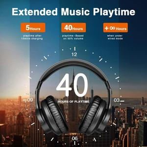 Image 3 - B8 Bluetooth 5.0 Headphones 40H Play time Touch Control Wireless Headphone with Mic Over Ear Earphone TF Headset for phone PC