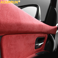 For BMW F30 F31 F32 F34 3 4 Series 320i 328d car interior door cover SUEDE leather Car Accessories