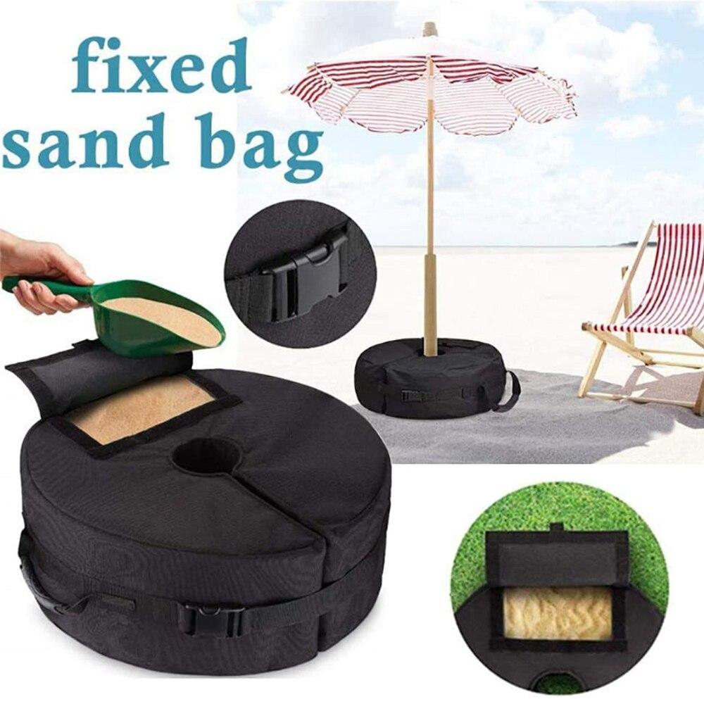 Outdoor Garden Umbrella Base Patio Beach Parasol Waterproof Heavy Duty Weight Sand Bags Stand Tent Leg Sun Shelter Accessories