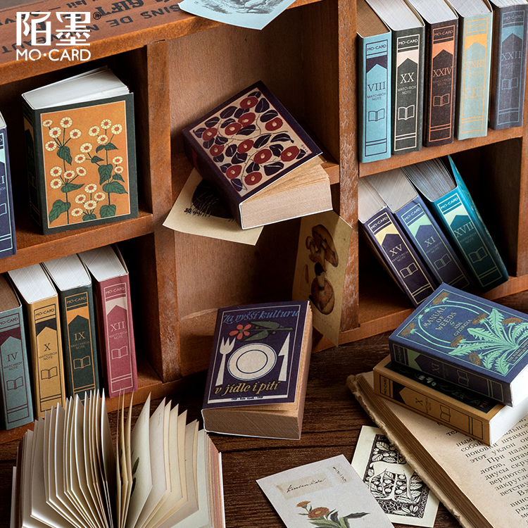 200 Pcs Van Gogh Book Collection Series Matchbox Memo Pad Retro Flower Stationery Office Accessory School Supplies