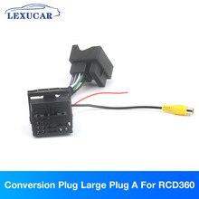 Rcd360 plugue de conversão de rádio grande plugue a e pequeno plugue b