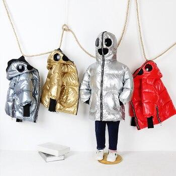 Winter 2020 New Fashion Children White Duck Down Jackets For Boys Girls Casual Eyewear Coat 3-14yrd