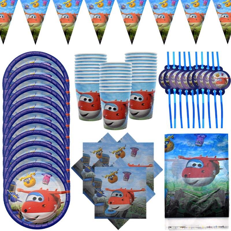 С рисунками героев из мультфильма «Супер Крылья», тема для детей с днем рождения пластины салфетки под чашки баннер набор одноразовой посуд...