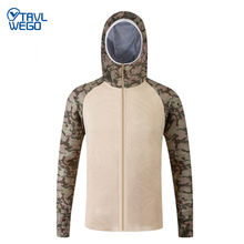 TRVLWEGO Camouflage Male Fishing Shirt Outdoor Sport Sunscreen Long Sleeve Breathable Quick Drying Ultraviolet-proof Hiking new tactical autumn outdoor male long sleeve warm fleece sweater shirt mens elastic breathable thermal quick drying pullovers