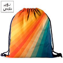 Drawstring Bag Pouch Shoes Fabric 3d-Printing School Fashion Women Art Who for Cares