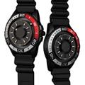 Neue Kreative Männer Uhr Magnetische Metall Perle Multifunktions Gummi Sport Quarz Armbanduhr Kühlen Einfache Männliche Uhr Relogio Masculine auf