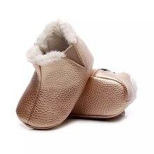 Ankle-Boots Girls Kids'-Shoes Winter for Children's Waterproof Fur Plus Velvet Warm Snow