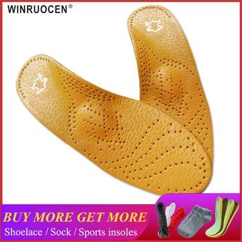 Haute qualité En Cuir semelle orthopédique pour Pieds Plats chaussures orthopédiques de Soutien semelle Semelles pour pieds hommes et femmes BOEUF Jambe 1