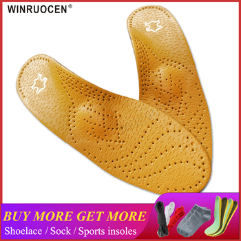 High Quality Leather Orthotic Insole For Flat Feet Arch Support Orthopedic Shoes Sole Insoles For Feet Men And Women OX Leg