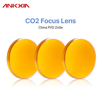 ANKXIA China CO2 ZnSe Focus Lens Dia.18 19.05 20 Mm FL38.1 50.8 63.5 101.6 127mm 1.5 - 4 For Laser Engraving Cutting Machine fireray co2 laser head set kit 1pcs dia 20mm znse focus lens 3pcs dia 25m mo si mirror 25mm for laser engraving cutting machine