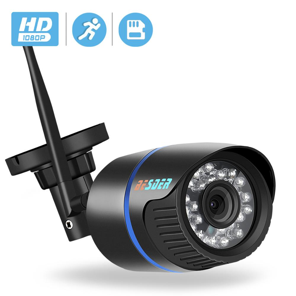 BESDER 1080P FHD IP Camera Wifi Outdoor Security Camera Waterproof 20m Night Vision Motion Detect ONVIF 2.0 P2P Wireless Camera