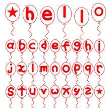 YaMinSanNiO Alphabet Abc Balloon Metal Cutting Dies Hello Stencils Die Cut New for DIY Scrapbooking Album Paper Card Embossing