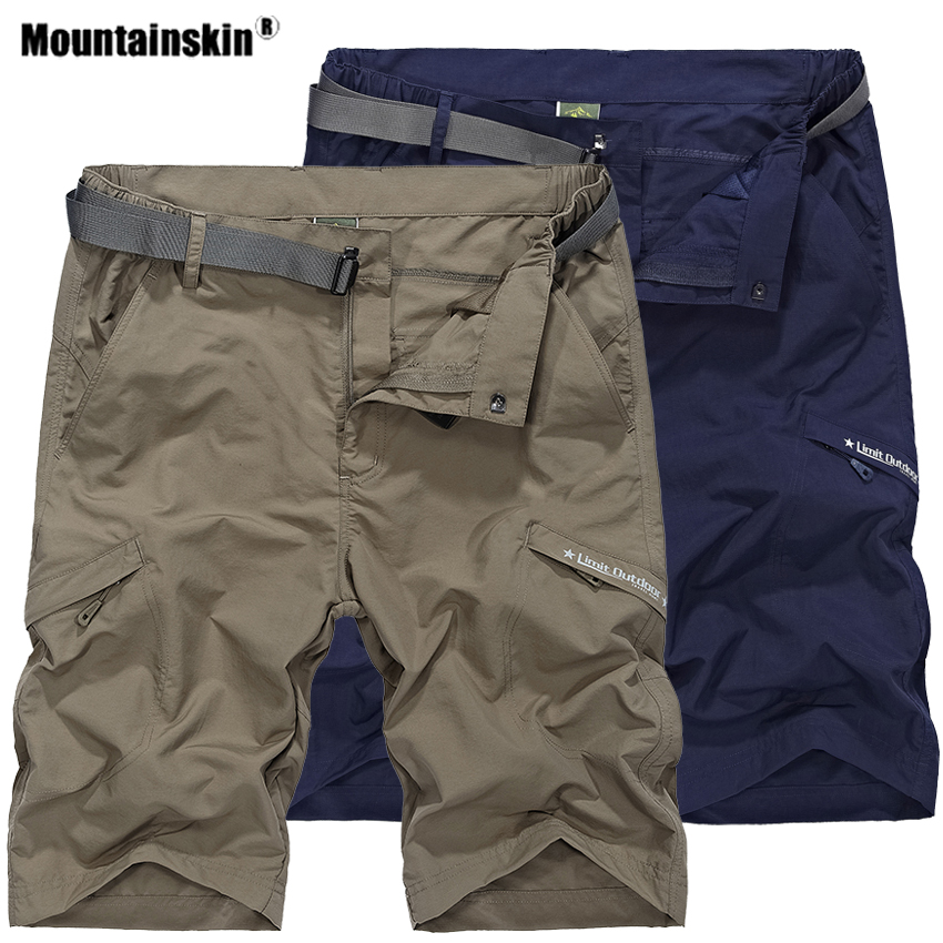 Mountainskin Mens Summer Quick Dry Hiking Shorts Outdoor Sports  Breathable Trekking Camping Fishing Running Male Trousers VA603