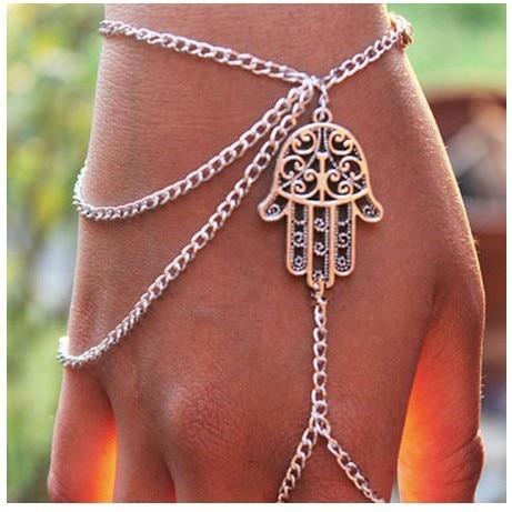 Accesorios moda y personalidad bergamota borlas cadena mitones pulseras Cadena de dedo