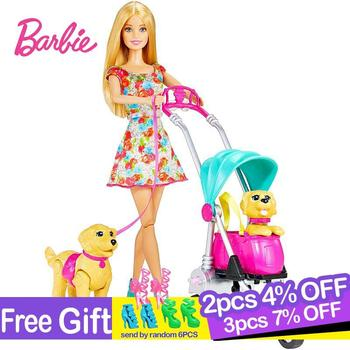 Original Brand Barbie With Pet Doll Princess Assortment Girl Fashion Fashionista Doll Toys for Girls Children Birthday Gift недорого