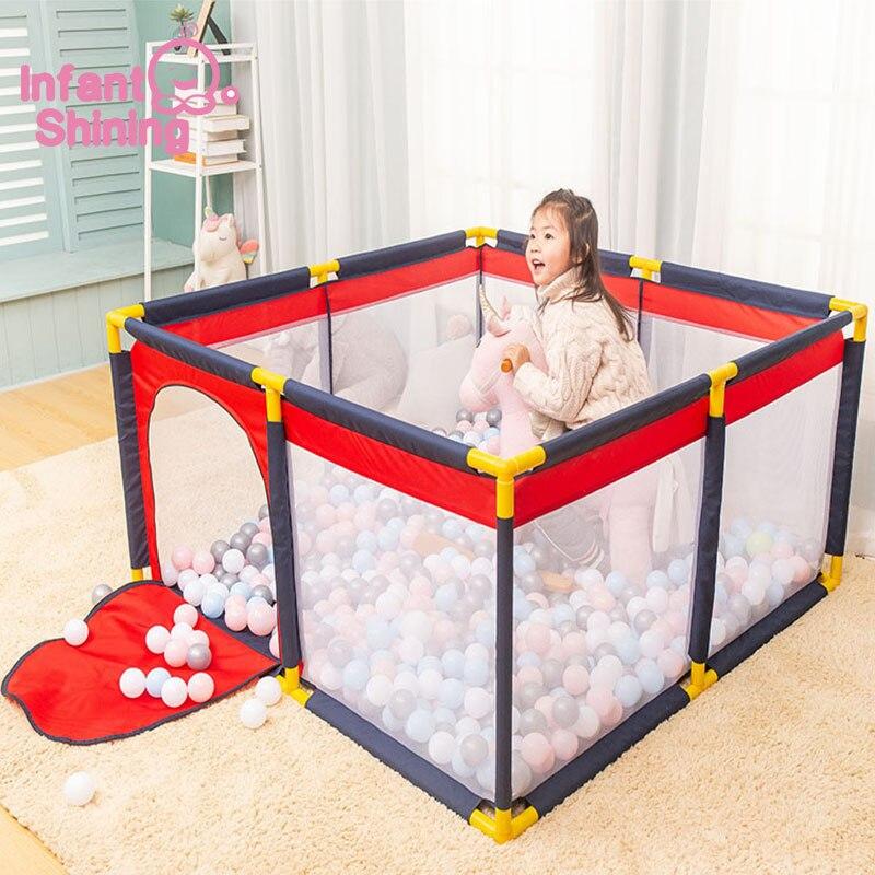 ทารก Shining เด็กบอล Playpens สำหรับเด็กเล่นรั้วเด็กเต็นท์เด็กความปลอดภัยอุปสรรคสำหรับ 0  6 Y สระว่ายน้ำเด็ก-ใน อ่างบอล จาก ของเล่นและงานอดิเรก บน   2