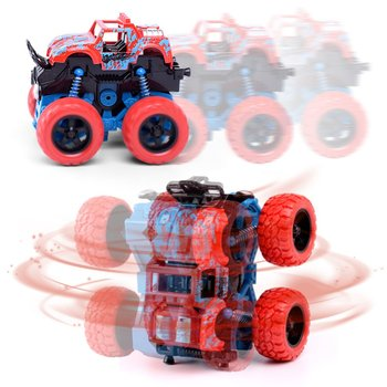 New Inertial off-Road Vehicle Four-Wheel-Drive Plastic Children Toy Car Pull Back Stunt Car Birthday/Christmas Gift for kids j084b diy small four wheel drive car interesting diy making for adults and children sell at a loss