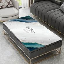 Moderno Cuero simple de tela de mesa de tela impermeable y a prueba de aceite hogar anti scald lavable de mantel de mesa de PVC