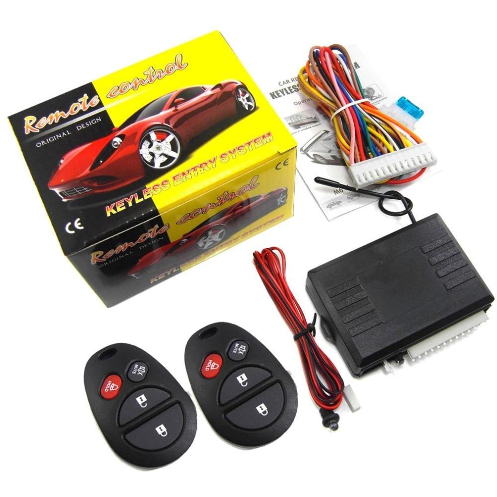 Keyless Entry Central Locking Push Button Ignition Door Lock Universal Car Alarm SmartPhone Control Car Alarm System