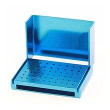 1 Pc 58 Holes Dental Bur Holder Stand Autoclave Disinfection Box Case GR5