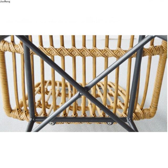 Hand-Woven Iron Balcony Chair 4