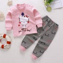 Suit Sleepwear Pants Clothing-Sets Girls Toddler Boys Kids Children New Baby Top Autumn