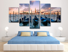 5 Planes Boat Room Decor Canvas Art Painting Picture Photo Living Office for Women and Men
