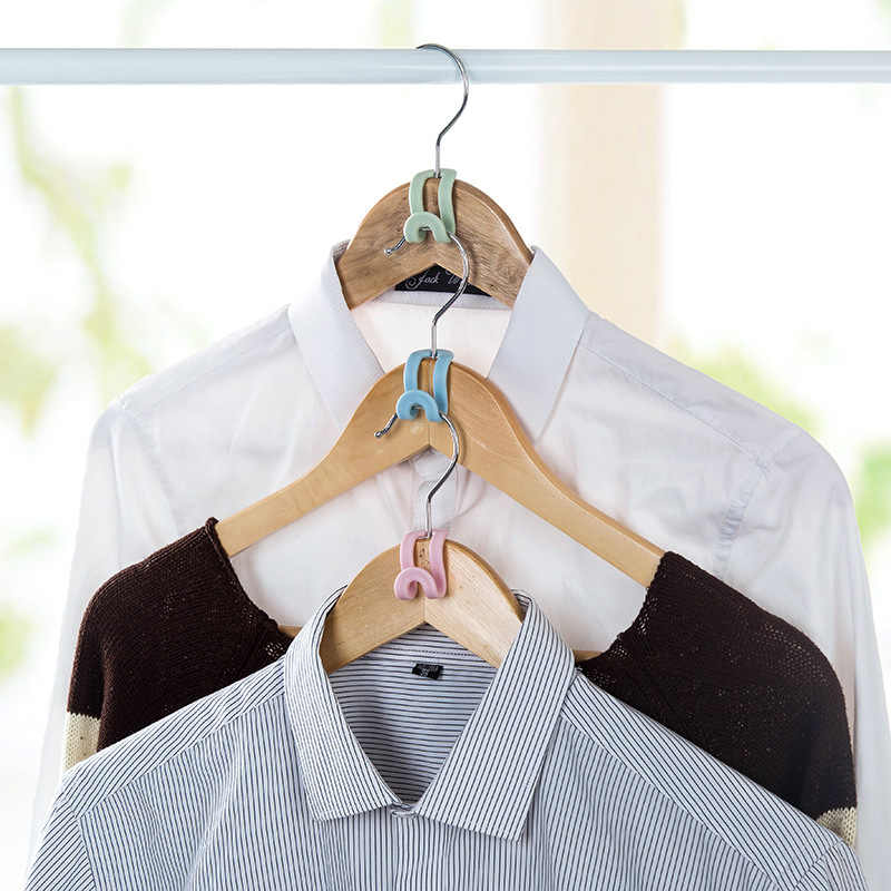 5/15 Uds creativo mini colgador para ropa de plástico para el hogar fácil gancho organizador de armario estante de almacenamiento gancho para colgar ropa DIY
