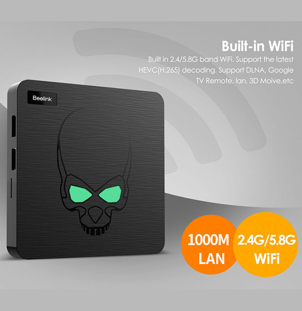 Beelink-TV Box GT King, Android 9,0, con Amlogic S922X, hexa-core, G52, MP6, gráficos, LPDDR4 de 4GB, 64GB de ROM, 5,8G, wi-fi, Bluetooth 4,1, 4K 75hz