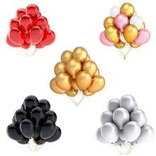 Globos de látex dorados, blancos, negros y rosas, decoración boda inflable, juguetes para niños, Baby Shower, 10 Uds.