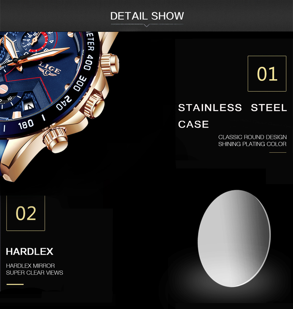 H0cf4cf30c1f24760b3e180befd6bc1b1F LIGE Men Watches Top Brand Luxury Stainless Steel Blue Waterproof Quartz Watch Men Fashion Chronograph Male Sport Military Watch