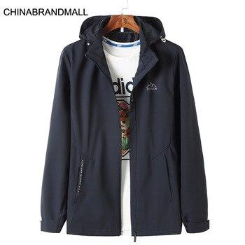 2020 Autumn Can Detachment With Cap Men Jacket Fat Man Plus Fat Plus Size Loose Leisure Windbreaker Coat