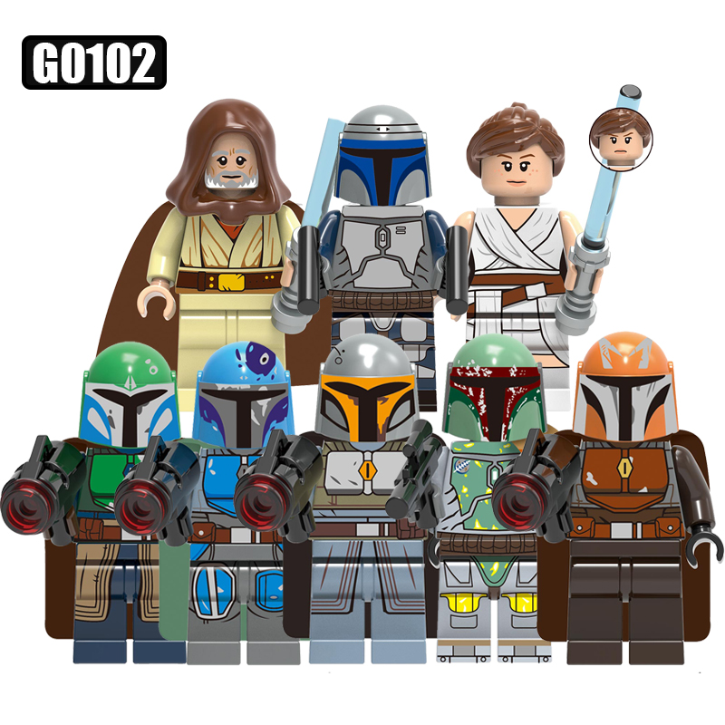 Single Sale War Series Model Luke Skywaller Mandalorian Warrior Boat Fett Rey Building Blocks LegoingLys Figure Kids Toys G0102