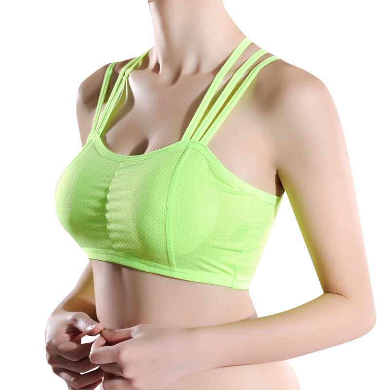 Women Sexy Fitness Straps Bra With Padded Quick Dry   Tank     Tops   Breathtable Breathable Fitness Crop   Top   3 Colour