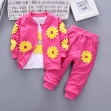 LILIGIRL Baby Girl Clothes Set Children Tracksuits for Kids Casual Print Sport Suits Spring Autumn Girls Clothing 3pcs Suit 1-4Y girls clothes suit baby clothes set autumn spring flower kids suit for girls girls sports suits tracksuits children clothes set