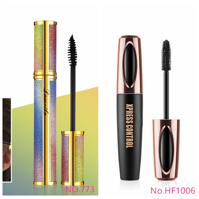 New 4d Fiber Lash Mascara Waterproof Black Eye Silk Eyelashes Mascara Lengthening Volume 3d Sexy Pudaier Eyebrow Makeup Mascara 2