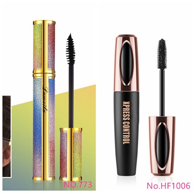 New 4d Fiber Lash Mascara Waterproof Black Eye Silk Eyelashes Mascara Lengthening Volume 3d Sexy Pudaier Eyebrow Makeup Mascara 2