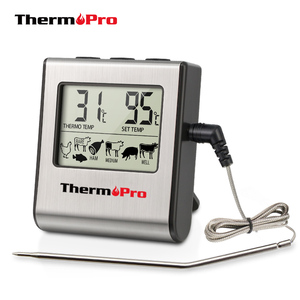 ThermoPro TP16 Digital BBQ Meat Thermometer Grill Oven Thermomet With Timer & Stainless Steel Probe Cooking Kitchen Thermometer(China)
