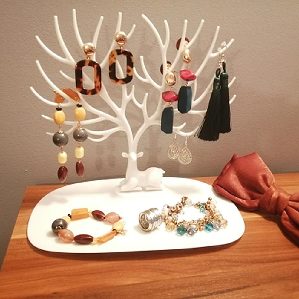 Chic Display Earrings Necklace Ring Pendant Bracelet Jewelry Display Stand Tray Tree Storage jewelry Organizer Holder
