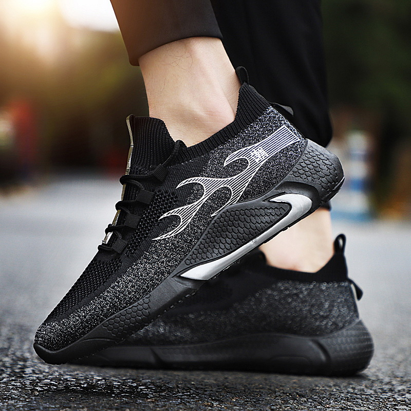 Men Running Shoes Casual Mesh Sneakers Outdoor Sport Shoes Breathable White Jogging Shoes Comfortable Shoe Chaussure Homme