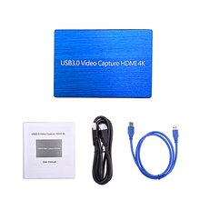цена на 4K@60Hz HD USB3.0 HDMI Video Capture 1080P HDMI to USB Video Capture Card Dongle Game Streaming Live Streaming