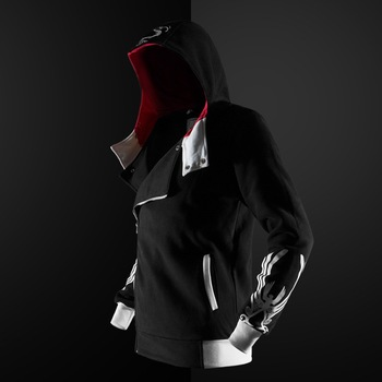 Assassin Hoodies zipper Streetwear Fashion print hoodie Hip Hop Assassin hoodie boy Sweatshirt coats 5 colors Tracksuit  Hoody 2