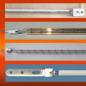Quartz glass tube infrared heater lamp with carbon