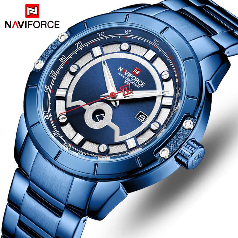 NAVIFORCE hommes montre Top marque de luxe mode hommes étanche montres à Quartz calendrier sport analogique mâle horloge Relogio Masculino