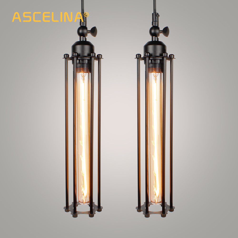 2 Pieces Industrial Pendant Light Vintage Pendant Lamp Retro Handing Lamp American Restaurant Living Room Dining Room Decoration