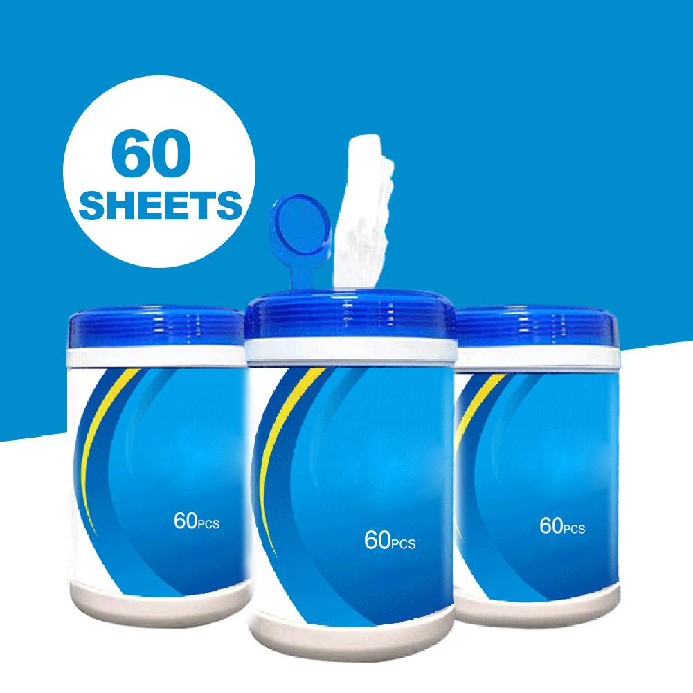 180 PCS/3 Pack Portable 75% Alcohol Wet Wipes Antiseptic Cleaning Sterilization Wipes Wet Wipes For Daily Disinfection