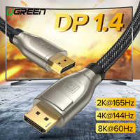 Ugreen DisplayPort 1.4 Cable 8K 4K HDR 165Hz 60Hz Display Port Adapter For Video PC Laptop TV DP 1.4 1.2 Display Port 1.2 Cable